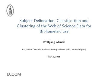 Subject Delineation, Classification and Clustering of ... - Archimedes