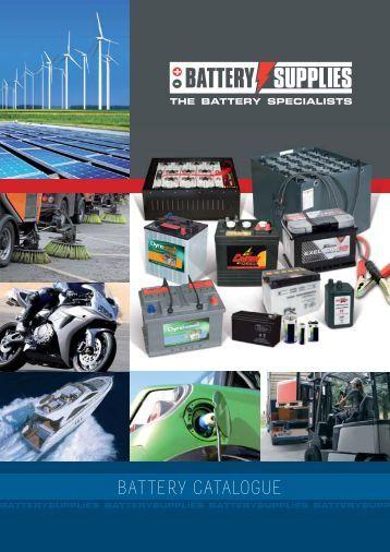 BATTERY CATALOGUE - Battery Supplies