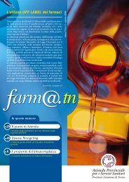 L'utilizzo OFF LABEL dei farmaci - Azienda Provinciale per i Servizi ...