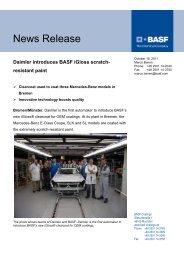 Daimler introduces BASF iGloss scratch ... - BASF Coatings GmbH