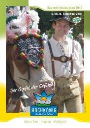 Maria Alm · Dienten · Mühlbach - Download brochures from Austria