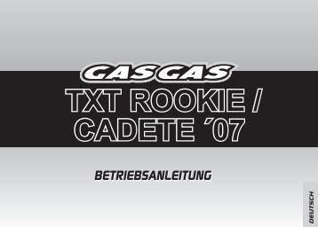 txt rookie / cadete ´07 txt rookie / cadete ´07 - GasGas