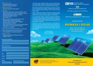 BIOMASA I SOLAR - FSB - Sveučilište u Zagrebu