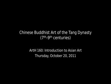 Chinese Buddhist Art of the Tang Dynasty (7th-9th centuries)