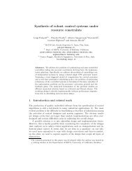 Synthesis of robust control systems under resource ... - Cadence