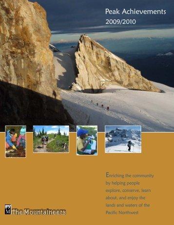 Peak Achievements - The Mountaineers