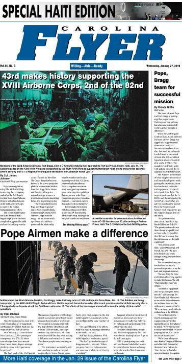 Pope Airmen make a difference - Pope Field - Home