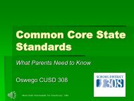 Common Core State Standards - Oswego Community Unit School ...