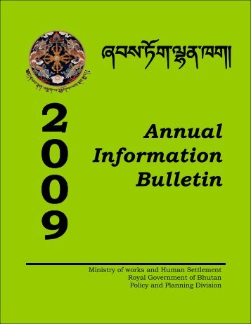 Annual Bulletin 2009 - Ministry of Works and Human Settlement
