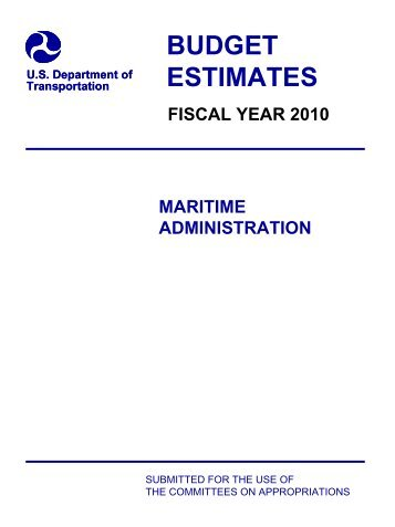 Administrator's Overview - Maritime Administration - U.S. ...