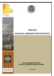 bhutan national urbanization strategy - Ministry of Works and Human ...