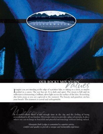 silverwater menu.indd 1 5/10/2012 12:16:46 PM