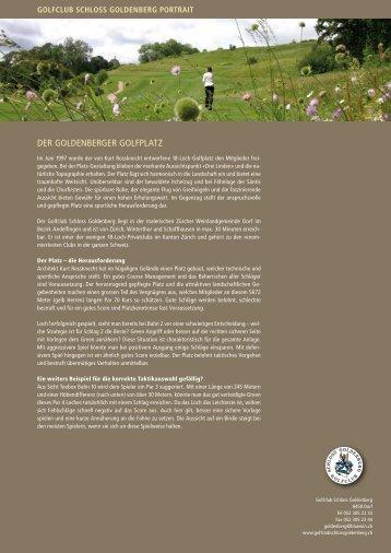 Portrait des Golfclubs als PDF - Golfclub Schloss Goldenberg