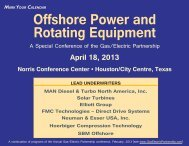 Offshore Power & Rotating Equipment - Gas/Electric Partnership
