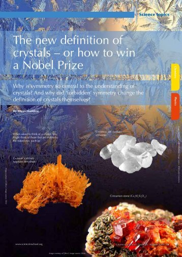 The new definition of crystals – or how to win a ... - Science in School