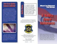 Learn more... - Missouri Department of Public Safety