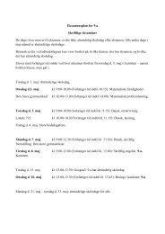 Eksamensplan for 9.a Skriftlige eksaminer De dage, hvor man er til ...