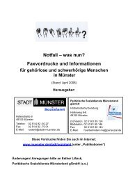 Notfall – was nun? Faxvordrucke und Informationen - KOMM Münster
