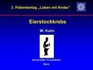 Eierstockkrebs - Tumorzentrum Bonn eV