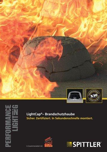 LightCap®– Brandschutzhaube - SPITTLER Lichttechnik GmbH