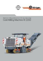 Cold Milling Machine W 2200 - Wirtgen GmbH