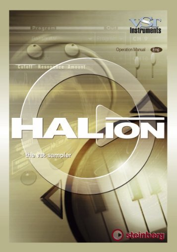 HALion – Operation Manual