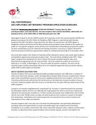 call for proposals 2011 wpa public art residency program application ...