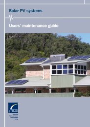 Solar PV systems Users' maintenance guide