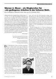 Werner A. Moser – ein Wegbereiter für «ein gediegenes Arbeiten in ...