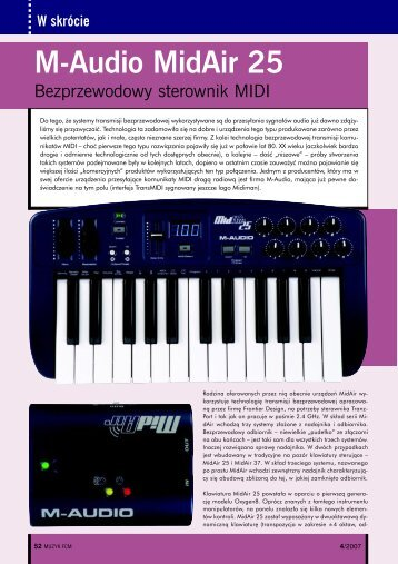 M-Audio MidAir 25 - Music Info