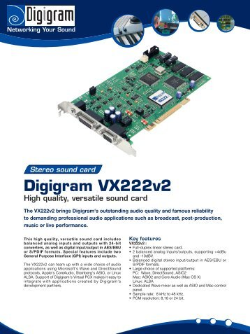 Download product brochure - Digigram