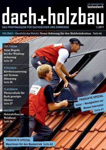 HOLZBAU – Baustelle des Monats Neuer Schwung ... - Bauhandwerk