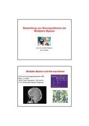 Behandlung von Nierenproblemen bei Multiplem Myelom