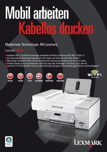 Modernste Technologie. Mit Lexmark.