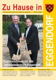 Spatenstichfeier für das Gemeindezentrum Eggendorf