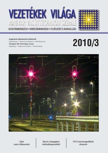 2010 /3. szám - MÁV Dokumentációs Központ és Könyvtár
