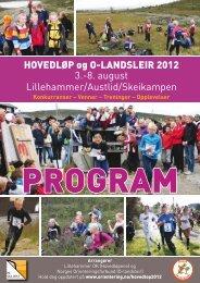 HOVEDLØP og O-LANDSLEIR 2012 3. - Norges Orienteringsforbund