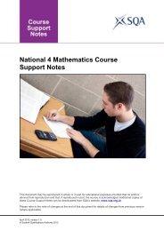 National 4 Mathematics Course Support Notes - Scottish ...