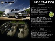 Pickup Owners Are Switching To Ram •Canada's - Chrysler Canada