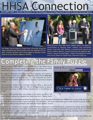 Completing the Family Puzzle - County of San Diego
