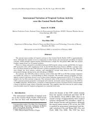 Interannual variation of tropical cyclone activity in the central