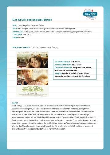 FilmTipp Das Glück der großen Dinge - Vision Kino