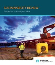 SUSTAINABILITY REVIEW - Maersk Supply Service