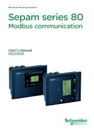 sepam 80 modbus communication manual - Schneider Electric
