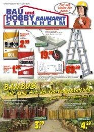 219.- 500 Liter 300 Liter - Bau und Hobby Baumarkt Steinheim