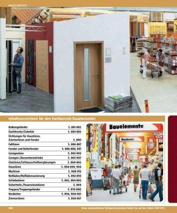 Inhaltsverzeichnis für den Fachbereich Bauelemente: : - BAUHAUS