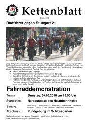 2010-10-00 Kettenblatt - Naturfreunde Radgruppe Stuttgart