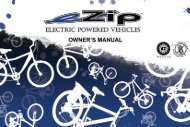 eZIP Bicycle Owners Manual - Bicycle Center of Seattle