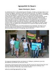 Agrarpolitik für Bauern - Good Food March