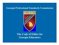 The Code of Ethics for Georgia Educators - Georgia Department of ...